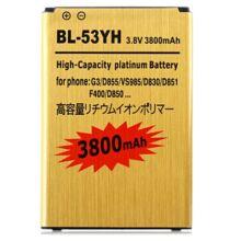 Utángyártott 3.8V 3800mAh Li-Ion Polymer akkumulátor LG G3 okostelefonhoz - BL-53YH