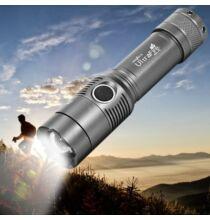 UltraFire Cree XM - L T6 2000LM zoomolható LED zseblámpa - Szürke