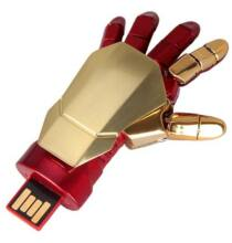 Vasember Rugalmas Robot Kézfej 32 GB behúzható U Disk - Piros