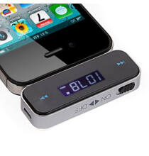 9368 Vezeték nélküli 3.5mm LCD FM Transmitter - Fekete