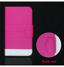 Ulefone S7 műbőr flip védőtok - Pink