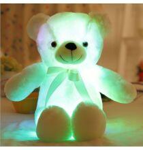 50cm LED Plüss Teddy Maci - Fehér