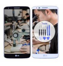 LG G2 LCD érintőpanel - D800, Fekete keret