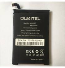 Oukitel K6000 Pro 6000mAh akkumulátor - Fekete