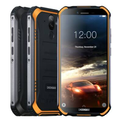 EU ECO Raktár - DOOGEE S40 Rugged Mobile Phone 5.5inch 4650mAh MT6739 Quad Core 3GB 32GB Android 9.0 8.0MP IP68 - Fekete