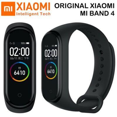 Xiaomi Mi Band 4 AMOLED Okos Karkötő - Fekete
