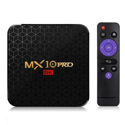 EU ECO Raktár - MX10 Pro Allwinner H6 4GB RAM 64GB ROM 2.4G WIFI Android 9.0 6K 4K TV Box - Fekete