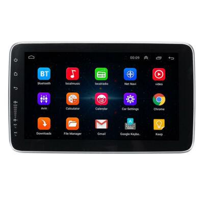 EU ECO Raktár - 9 Inch 10.1 Inch 1 DIN Android Car MP5 Player 4 Core 2GB RAM + 32GB ROM WIFI GPS FM - 9 Inch - Fekete