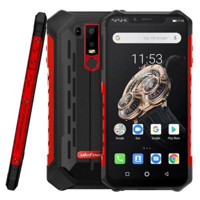 EU ECO Raktár - Ulefone Armor 6S NFC IP68 IP69K Vízálló 6.2 inch 6GB RAM 128GB ROM 5000mAh Helio P70 Octa core 4G Okostelefon - Piros
