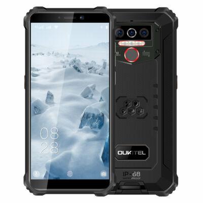 EU ECO Raktár - OUKITEL WP5 Globális verzió 5.5 inch IP68 Vízálló 8000mAh Android 10 13MP 4GB RAM 32GB ROM MT6761 4G Okostelefon - FEkete