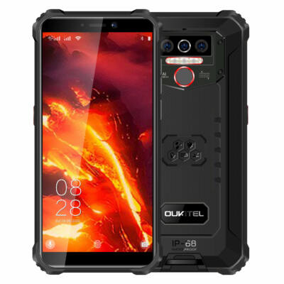 OUKITEL WP5 Pro 5.5 inch IP68/IP69K Vízálló 8000mAh Android 10 13MP 4GB RAM 64GB ROM MT6762D 4G Okostelefon