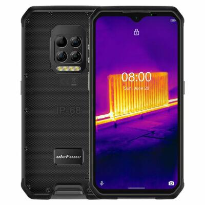 EU ECO Raktár - Ulefone Armor 9 Hőkamerával Rendelkező IP68 IP69K Vízálló 6.3 inch 8GB RAM 128GB ROM 64MP Camera NFC 6600mAh Helio P90 Octa Core 4G Okostelefon - Fekete