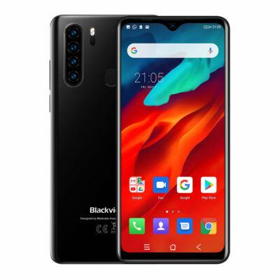 EU ECO Raktár - Blackview  A80 Pro 6.49 inch HD+ 4680mAh Android 9.0 13MP 4GB RAM 64GB ROM Helio P25 Octa Core 4G Okostelefon - Fekete