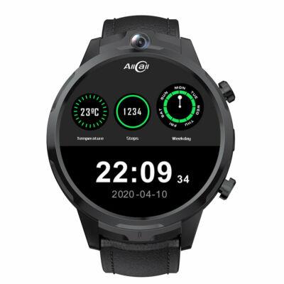 EU ECO Raktár -  ALLCALL Awatch GT2 3GB + 32GB Dual Kamerával Rendelkező Vezetéknélküli Bluetooth 4G Okos Karóramobil - Fekete