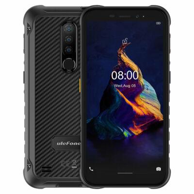 Ulefone Armor X8 IP68 IP69K Vízálló 5.7 inch 4GB RAM 64GB ROM 13MP Triple előlapi Kamera NFC 5080mAh MT6762 Octa Core 4G Okostelefon