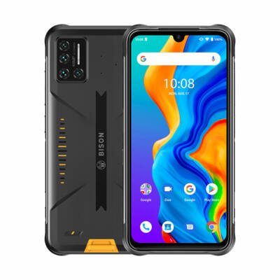 UMIDIGI BISON IP68 IP69K Vízálló NFC Android 10 5000mAh 6GB RAM 128GB ROM Helio P60 6.3 inch FHD+ 48MP Quad előlapi Camera 24MP Front Camera 4G Okostelefon
