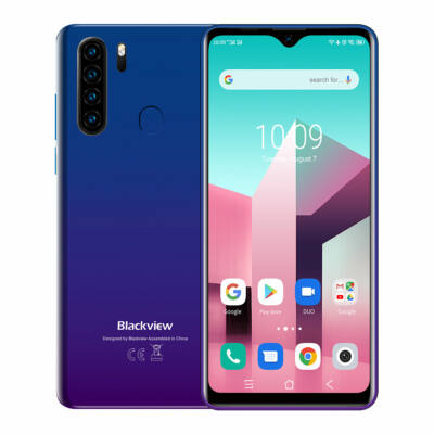 Blackview A80 Plus 6.49 inch HD+ NFC Android 10.0 4680mAh 4GB RAM 64GB ROM Helio A25 Octa Core 4G Okostelefon