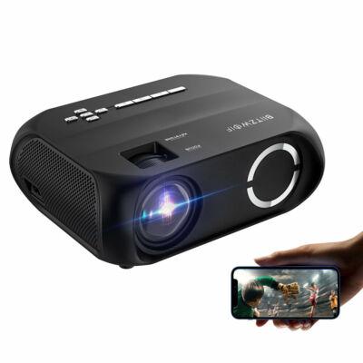 EU ECO Raktár - BlitzWolf®BW-VP11 LCD LED 6000 Lumens 1280x720 Pixels HD Projektor - Fekete