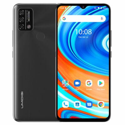 EU ECO Raktár - UMIDIGI A9 6.53 inch HD+  Infrared Android 11 5150mAh 3GB RAM 64GB ROM Helio G25 13MP Octa Core 4G Okostelefon - Ezüst