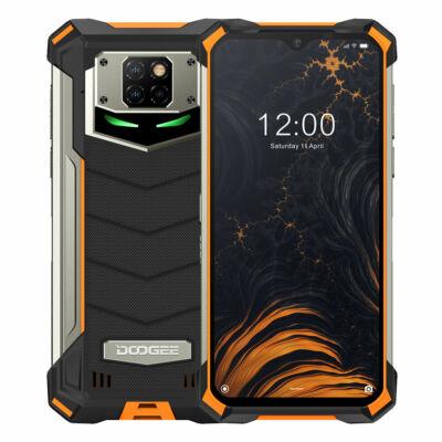 EU ECO Raktár - DOOGEE S88 Plus IP68 Vízálló 6.3 inch FHD+ NFC 10000mAh Android 10 48MP AI Triple Camera 8GB RAM 128GB ROM Helio P70 Octa Core 4G Okostelefon - Narancs