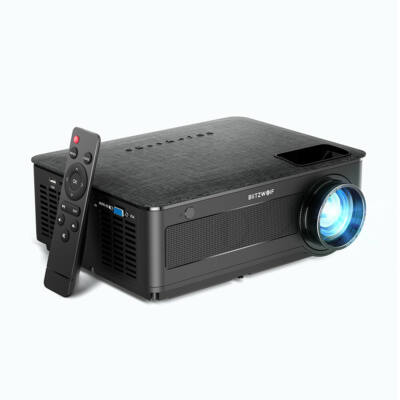 EU ECO Raktár - Blitzwolf® BW-VP10 LCD Full HD Projektor 1920x1080P 6500 Lumen HDMIx3 USB VGA AV TF Card Audio 5000:1 Contrast 2*5W HiFi Speakers Projektor - Fekete