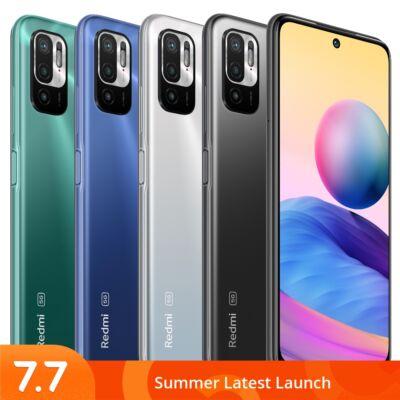 EU ECO Raktár - Xiaomi Redmi Note 10 5G Globális verzió 6.5 inch 90Hz 4GB RAM 128GB ROM 48MP Triple Camera 5000mAh NFC Dimensity 700 Octa Core Okostelefon - Fekete