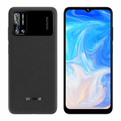 DOOGEE N40 Pro 6GB RAM 128GB ROM Helio P60 6.52 inch Display Android 11 6380mAh 20MP Quad Camera 24W Gyorstöltéssel 4G Okostelefon