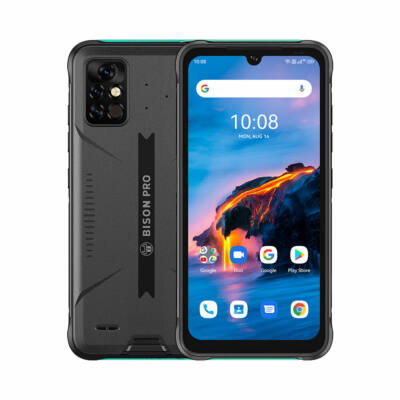 UMIDIGI BISON Pro IP68 Vízálló NFC Helio G80 Android 11 5000mAh 8GB RAM 128GB ROM 6.3 inch FHD+ 48MP AI Triple Camera 4G Okostelefon