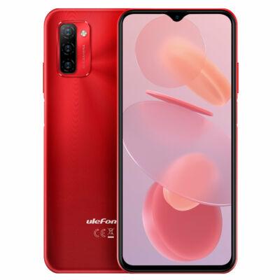 EU ECO Raktár - Ulefone Note 12P 6.82 inch 7700mAh 4GB RAM 64GB ROM Android 11 13MP Triple Camera SC9863A Octa Core 4G Okostelefon - Piros