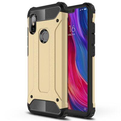 ASLING Diamond 360 Fokos Ütésálló Mobiltelefon Tok Xiaomi Redmi Note 6 Pro - Arany