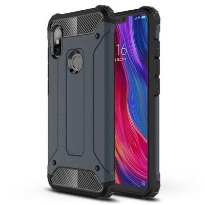 ASLING Diamond 360 Fokos Ütésálló Mobiltelefon Tok Xiaomi Redmi Note 6 Pro - Sötétkék