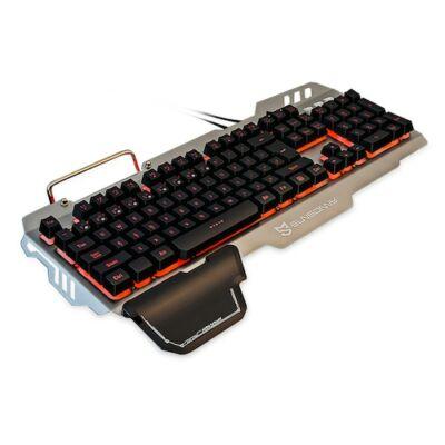 SUNSONNY S - K10 Vezetékes RGB Háttérvilágítással Rendelkező Gamer Billentyűzet - Fekete