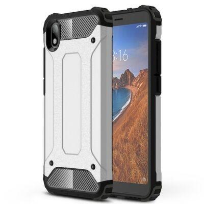 ASLING 360 Fokban Védő Ütésálló Mobiltelefon Tok Xiaomi Redmi 7A Telefonra - Ezüst