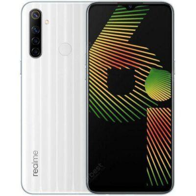 EU ECO Raktár - OPPO realme 6i 4G Okostelefon Android 10 4GB 128GB 6.5 inches előlapi Kamera 64AI Quad Camera 5000mAh Akkumulátor - Fehér