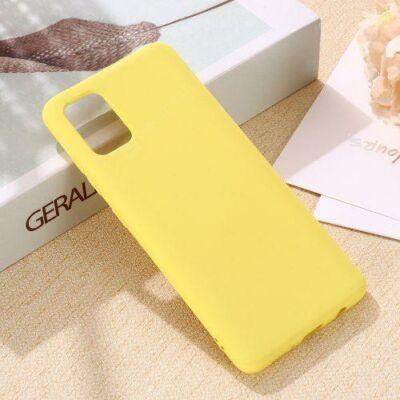 Liquid Szilikon Tok Samsung A31 - Sárga