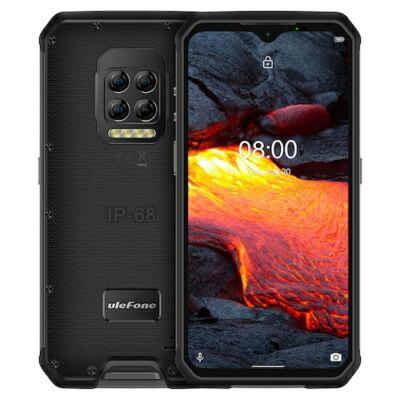 Ulefone Armor 9E 4G Okostelefon IP68 IP69K Vízálló 6.3 Inch 8GB 128GB 64MP Quad Camera NFC 6600mAh Helio P90 Octa Core - Fekete
