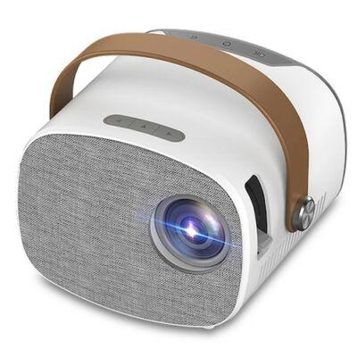 EU ECO Raktár - Bilikay YG230 HD LED Hordozható Mini Full HD 1080P Projektor - Fehér