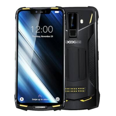 EU ECO Raktár - Doogee S90 6.18 inch FHD+ IP68 Vízálló NFC 5050mAh 16MP Dual előlapi Kamera 6GB RAM 128GB ROM Helio P60 4G Okostelefon - Narancs