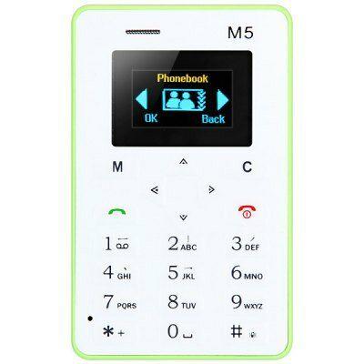 AEKU M5 Kártyamobil 4.5 mm-es ultravékony alacsony sugárzású zsebtelefon