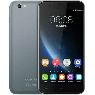 EU2 Raktár - OUKITEL U7 Pro 5.5 HD IPS 2.5D Android 5.1 MTK6580 OTA 3G Okostelefon - Szürke