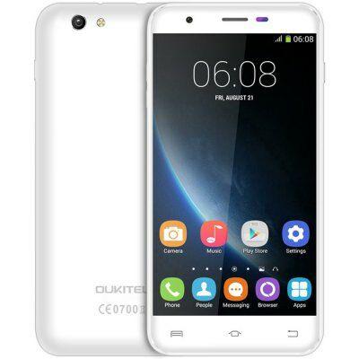 EU2 Raktár - OUKITEL U7 Pro 5.5 HD IPS 2.5D Android 5.1 MTK6580 OTA 3G Okostelefon - Fehér