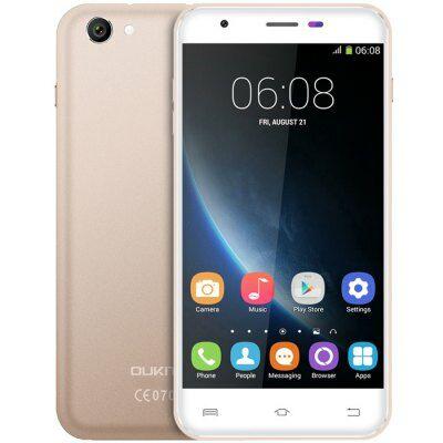 EU2 Raktár - OUKITEL U7 Pro 5.5 HD IPS 2.5D Android 5.1 MTK6580 OTA 3G Okostelefon - Arany