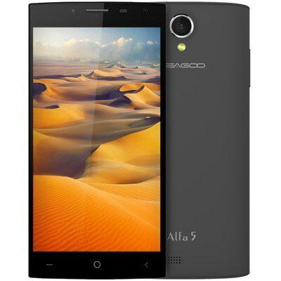 EU Raktárról - LEAGOO Alfa 5 5.0 HD IPS Android 5.1 SC7731 OTG 3G Okostelefon - Fekete