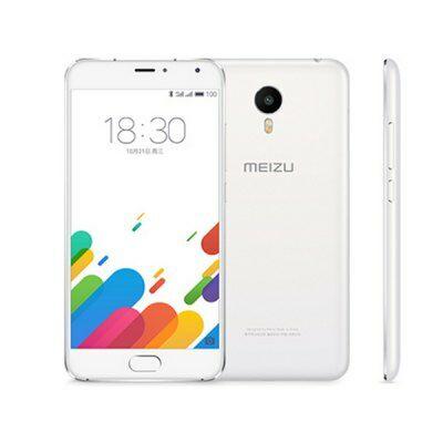 EU Raktárról - Meizu Metal 5.5 FHD 2.5D Android 5.1 Helio X10 16GB RAM 4G okostelefon - Fehér