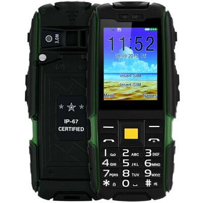 X6000 2.4 Kártyafüggetlen Power Bank IP67 Strapabíró Mobiltelefon - Zöld