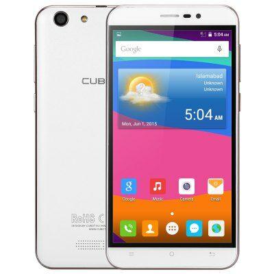 EU Raktárról - CUBOT NOTE S 5.5 HD 2.5D OGS Android 5.1 MTK6580 OTG 3G okostelefon - Fehér