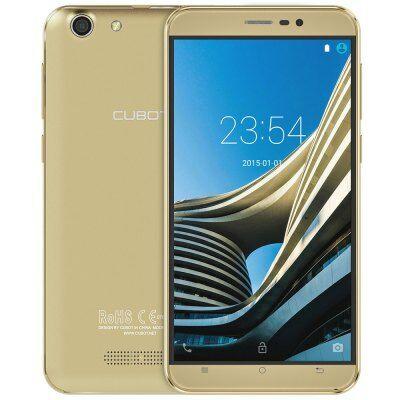 CUBOT NOTE S 5.5 HD 2.5D OGS Android 5.1 MTK6580 OTG 3G okostelefon - Arany
