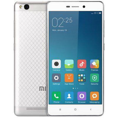 EU Raktárról - XIAOMI REDMI 3 5.0 HD Android 5.1 Snapdragon 616 16GB 4G Okostelefon - Ezüst