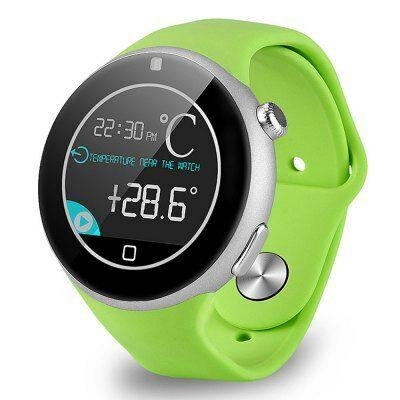 EU Raktárról - Aiwatch C5 kerek számlapos MTK2502 cseppálló okosóra telefon - Zöld