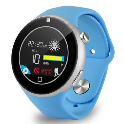 Aiwatch C5 kerek számlapos MTK2502 cseppálló okosóra telefon - Kék